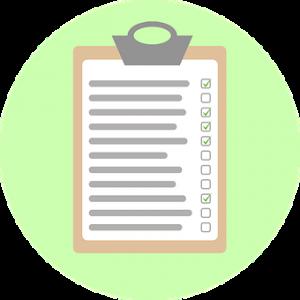 checklist for work plan